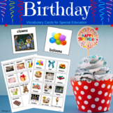 Birthday Communication Cards for Autism, Pecs  #ELLWINTERSALE