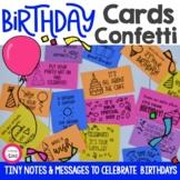 Birthday Confetti - Student Birthday Card and Celebration