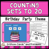 Birthday Counting Party For 0 - 20 - Boom Cards, Worksheets, Emergent Reader