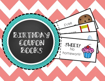 Birthday Coupon Book - Fun (and cheap!) Birthday Gift for Students!
