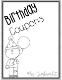 Birthday Coupons