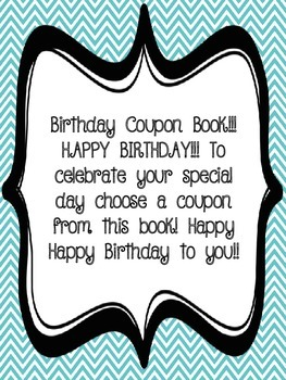 Birthday Coupons and Coupon Tickets