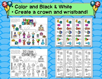 Birthday Craft Activities: Crowns and Wristbands - Birthday Craft