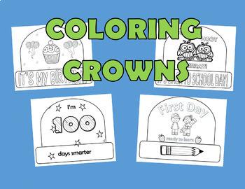 Crowns, Back to School Crown, Birthday Crown, 100 Days of School Crown