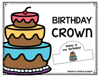 Birthday Crown Hat FREEBIE