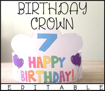 Birthday Crowns {EDITABLE}!