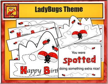 Birthday Crowns - Birthday Bundle - Balloon, Ladybug and Race Car Themes