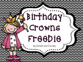 Birthday Crowns Freebie