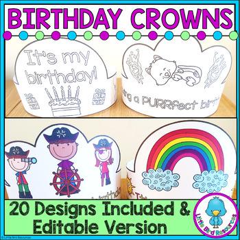 Birthday Crowns Various Designs