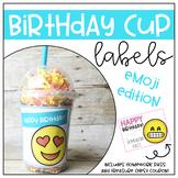 Birthday Cup Labels- Emoji Edition