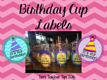 Birthday Cup Labels