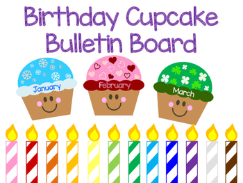 Birthday Cupcake Bulletin Board