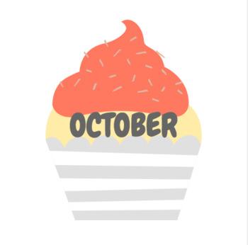 Birthday Cupcake Bulletin Board Set