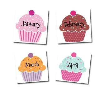 birthday cupcake chart: Birthday chart cupcakes by karen cox teachers pay teachers