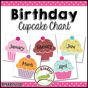 Birthday Chart Cupcakes By Karen Cox