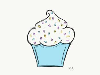 Birthday Cupcake Clip Art