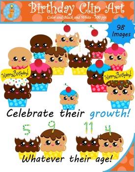 Birthday Cupcake Clipart