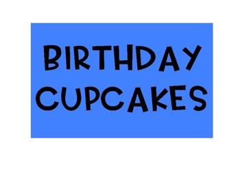 Birthday Cupcake Display