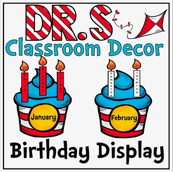 Birthday Cupcake Display in a Dr. S Inspired Decor Theme