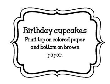 Birthday Cupcake FREEBIES!