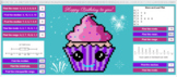 Birthday Cupcake Pixel Reveal 7th Grade Statistics