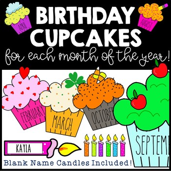 Birthday Cupcake Posters
