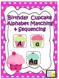 Alphabet Matching Cards ~ Birthday Cupcakes