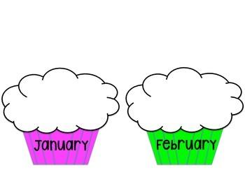 Birthday Cupcakes (Birthday Board)