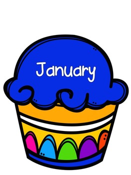 Birthday Cupcakes Bulletin Board