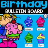 Birthday Cupcakes Bulletin Board Display
