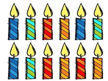Birthday Cupcakes Display