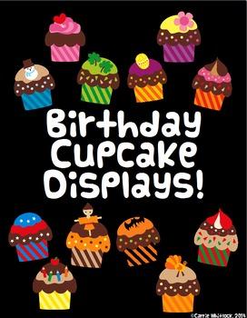 Birthday Display Board Cupcakes