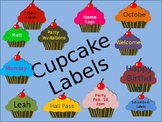 Birthday Cupcakes Labels editable you can resize Cupcakes, text size and fonts!