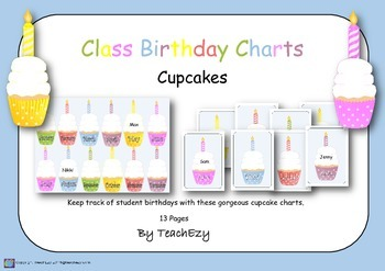 Birthday Cupcakes for the Classroom