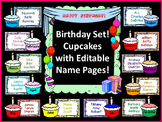 Birthday Cupcakes with Editable Name Pages