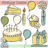Birthday Daisies Clip Art Set - FREE!