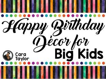 Birthday Decor for Big Kids