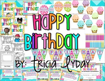 Birthday Decorations and Student Book {Wall Decor and Student Book Printables}
