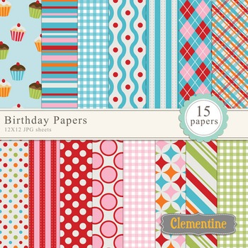Birthday Digital Papers