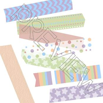 Birthday Digital Washi Tape Set of 24