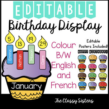 Editable Birthday Display