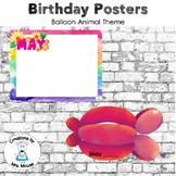 Birthday Display - Animal Balloons Theme
