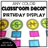 Birthday Display  - Any Color Classroom Decor