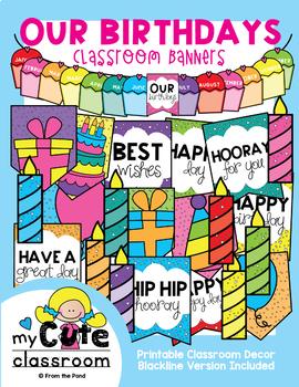 Birthday Display Banner {Our Birthdays}
