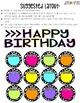 Editable Birthday Display (Black & White Polka Dots)