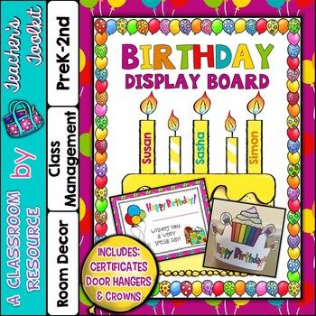 Birthday Display Board Set {UK Teaching Resource}