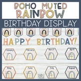 Birthday Display - Boho Rainbow Birthday Chart