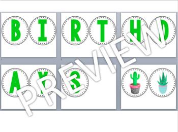 Birthday Display- Cactus / Succulent Theme