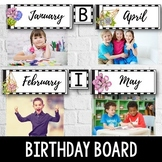 Birthday Display Editable - Cactus Theme Classroom Birthday Board