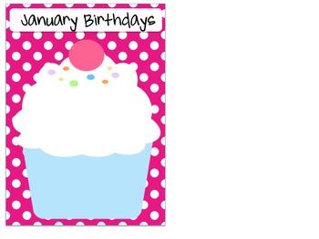 Birthday Display Chart